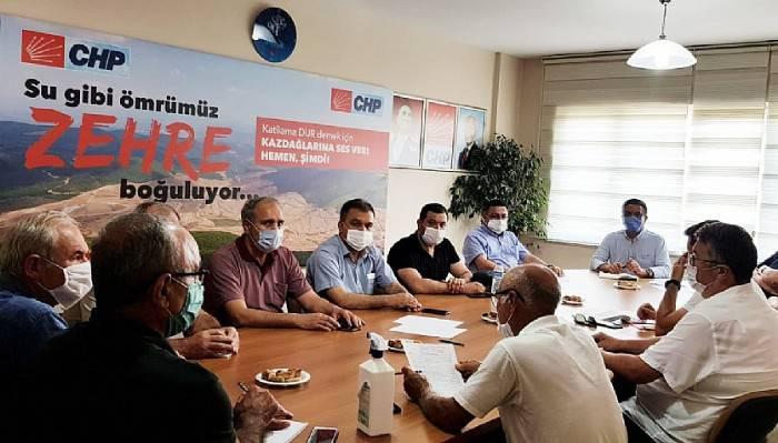 CHP Aylık Olağan İlçe Başkanları toplantısı Yapıldı