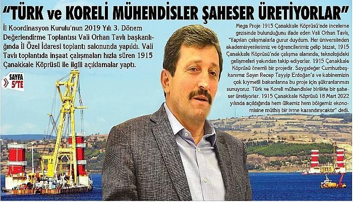 """""""Türk ve Koreli mühendisler birlikte bir şaheser üretiyorlar"""""""
