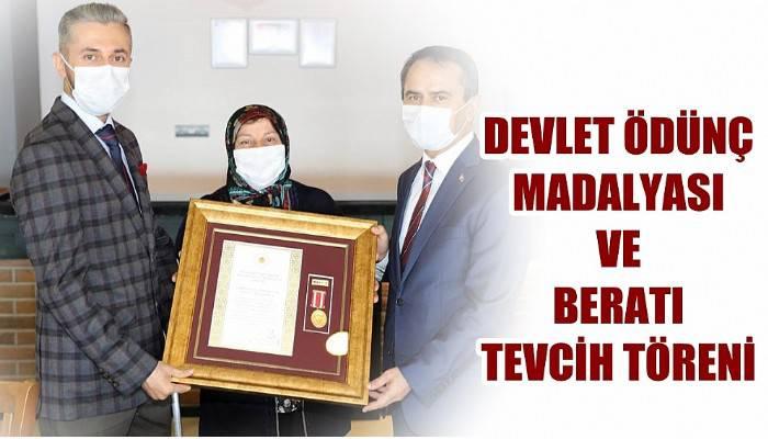 Devlet Övünç Madalyası ve Beratı Tevcih Töreni