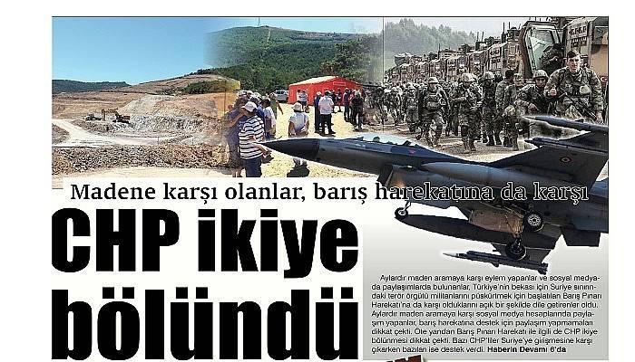 Madene karşı olanlar, barış harekatına da karşı CHP ikiye bölündü