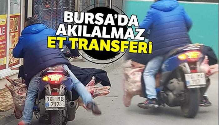 Bursa'da akılalmaz et transferi