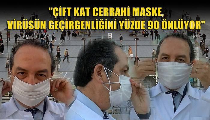 Şener'den, çift kat maske önerisi (VİDEO)