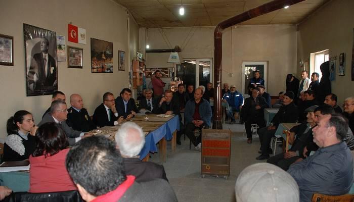 Bayramiç'te mahalle toplantıları