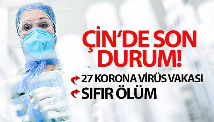 Çin'de 27 korona virüs vakası tespit edildi
