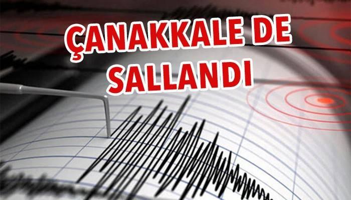Ege'de art arda depremler! Çanakkale'de de hissedildi!