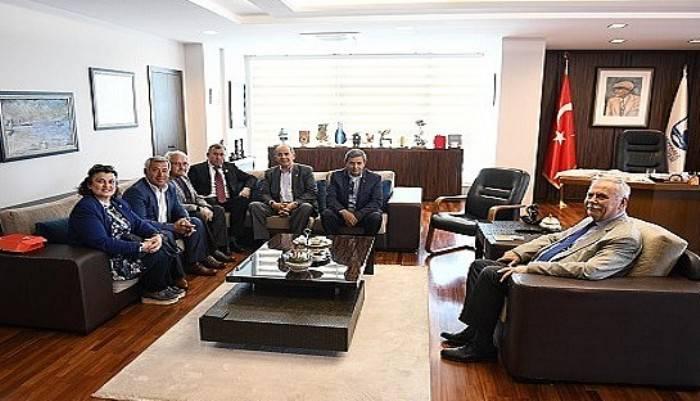 Başkan Gökhan konuklarını ağırladı