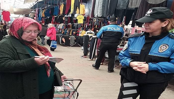 Çanakkale polisinden 'koronavirüs' broşürü