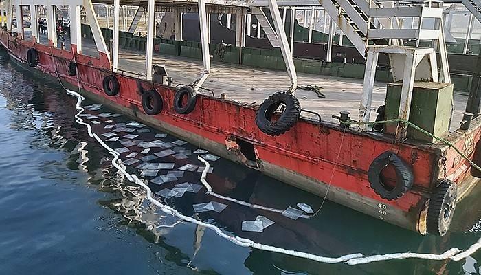 Çanakkale Boğazı'nda balıkçı teknesi feribota çarptı (VİDEO)