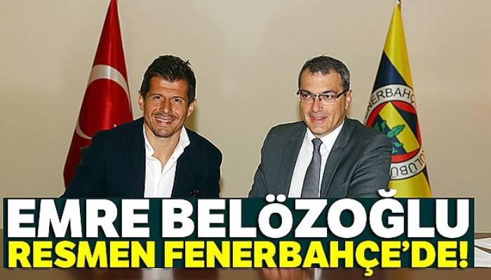 Emre Belözoğlu resmen Fenerbahçe'de!