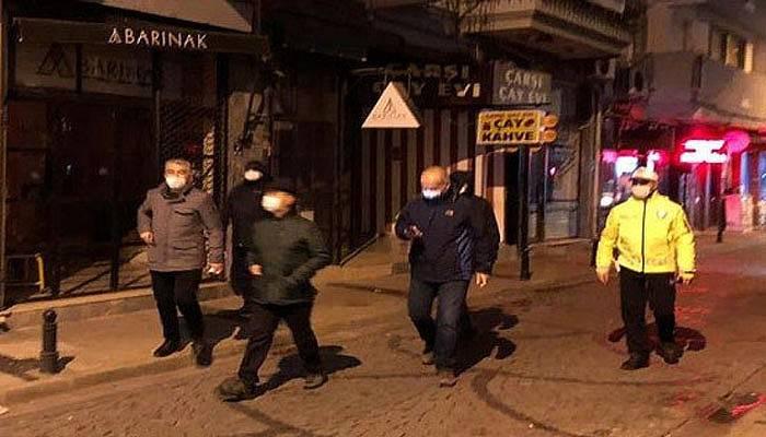 Valisi Aktaş, Sokağa Çıkma Kısıtlamasını Denetledi