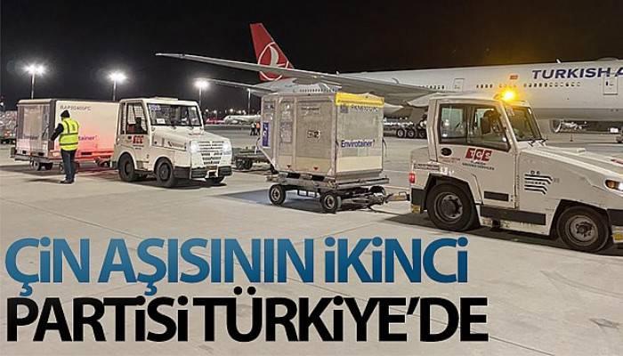 Çin aşısının ikinci partisi Türkiye'de (VİDEO)