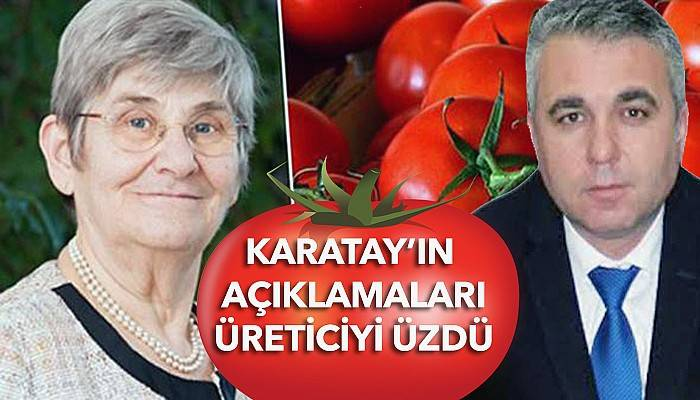 Karatay'a domates tepkisi (VİDEO)