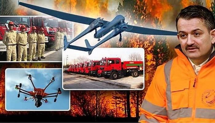 Orman yangınlarına karşı ilk kez İHA'lar kullanılacak!