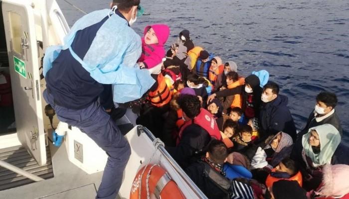 9 ayda 1541 kaçak göçmen kurtarıldı (VİDEO)