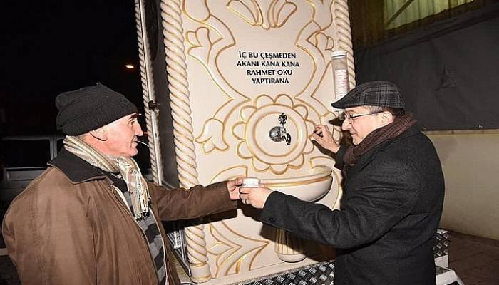 Çan Belediye Başkanı Öz'den pazar esnafına çorba ikramı