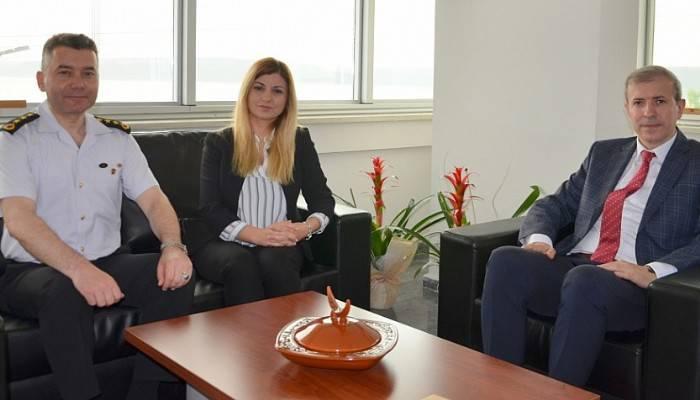 İl Jandarma Komutanından Rektör Yardımcısı Prof. Dr. Bünyamin Bacak'a Ziyaret