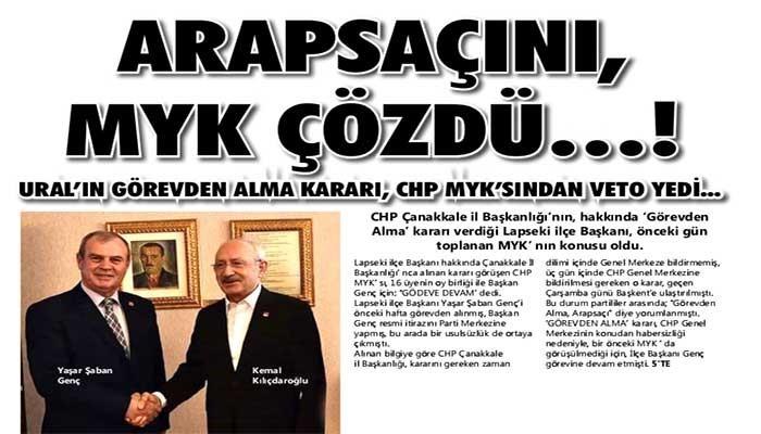 'ARAPSAÇI' NI, MYK ÇÖZDÜ…!
