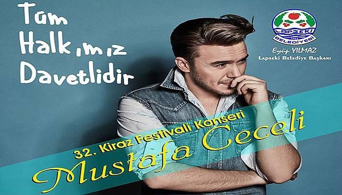 Mustafa Ceceli, Kiraz Festivali'nde sahne alacak