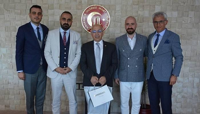 Uzaktan Eğitim Fakültesi Dekanı Şahin'den Rektör Murat'a ziyaret