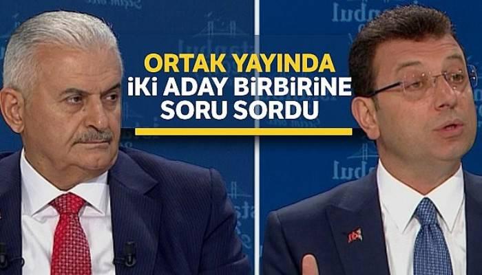 Ortak yayında iki aday birbirine soru sordu