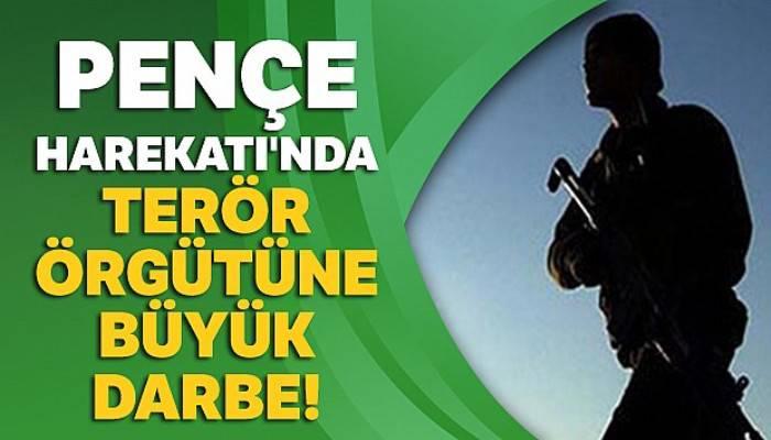 Pençe Harekatı'nda terör örgütüne büyük darbe!
