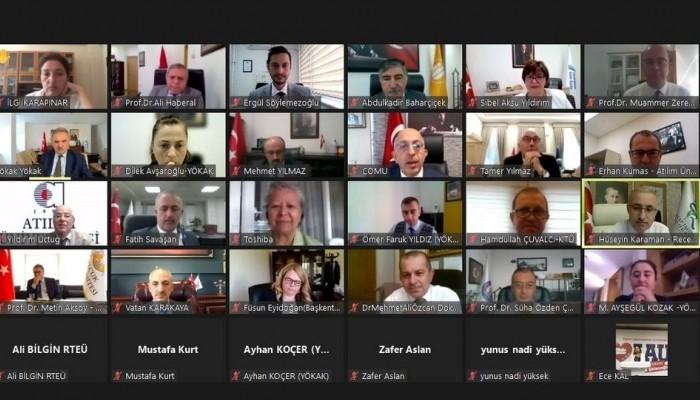 YÖKAK Kurumsal Akreditasyon Programı Temsilcileri İle Çevirimiçi Toplantı