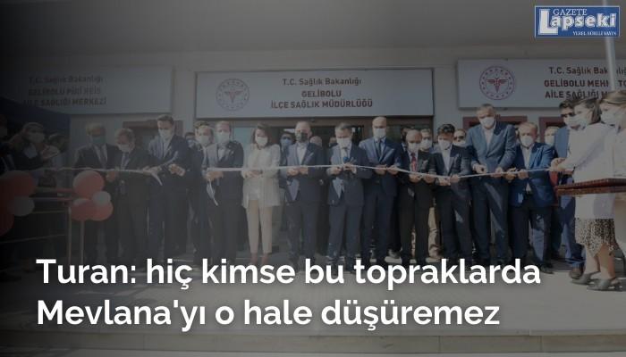 AK Parti'li Turan: hiç kimse bu topraklarda mevlana'yı o hale düşüremez