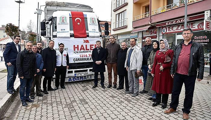Çan Belediyesi'nden Halep'e yardım