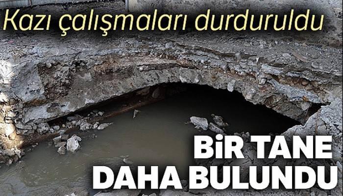 Trabzon'da bir tarihi menfez daha bulundu