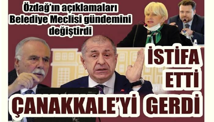 İstifa eden Özdağ'ın açıklaması Belediye Meclisini gerdi!