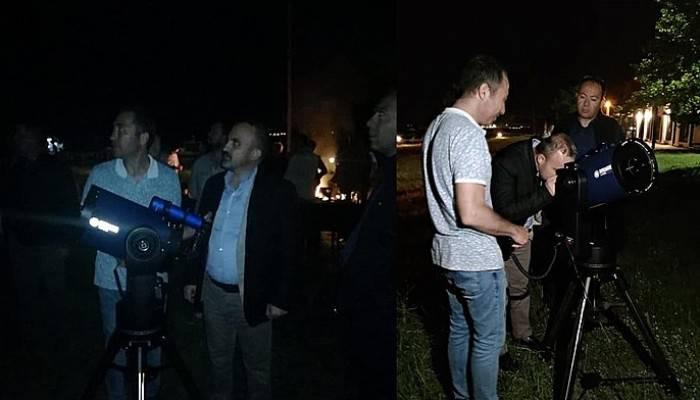 Turan, bilim kampında yıldız gözleminde bulundu