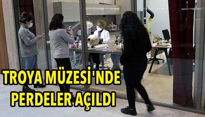 Ziyaretçiler restorasyon çalışmalarını izliyor (VİDEO)