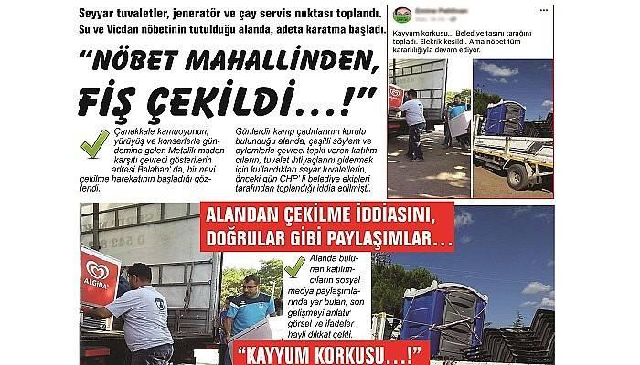 """""""NÖBET MAHALLİNDEN, FİŞ ÇEKİLDİ…!"""""""