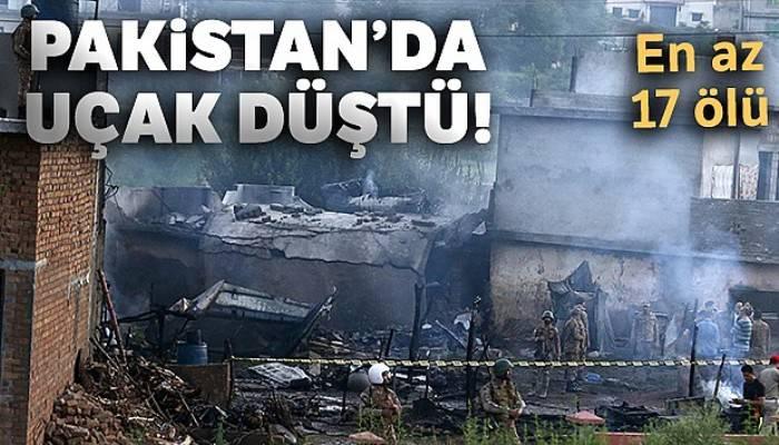 Pakistan'da uçak düştü: En az 17 ölü