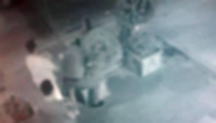 O anlar güvenlik kamerasında (VİDEO)