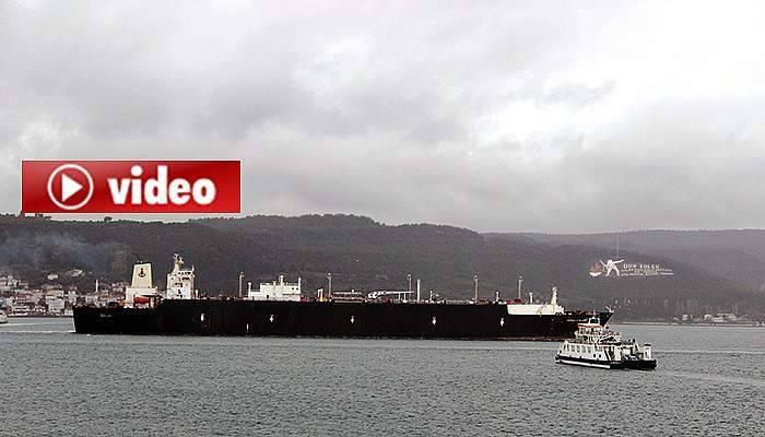 Tanker geçti, trafik tek yön çalıştı (VİDEO)