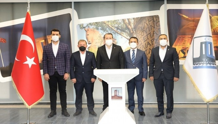 Genel Başkan Yalçın, Vali Aktaş'ı Ziyaret Etti