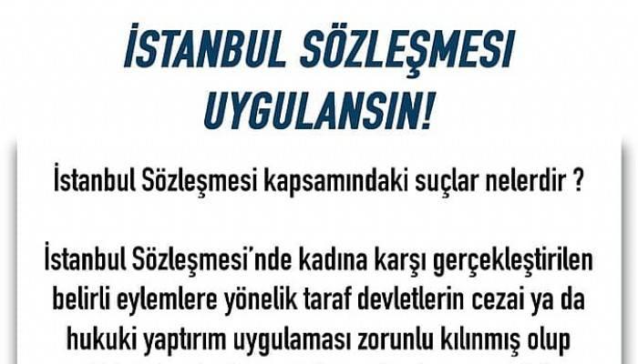 """""""istanbul sözleşmesi hemen uygulanmalı"""""""