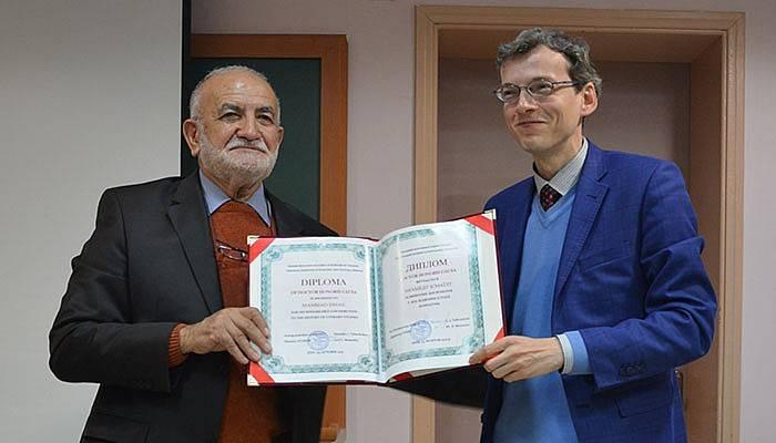 Prof. Dr. Mehmet İsmail'e Fahri Doktora (VİDEO)