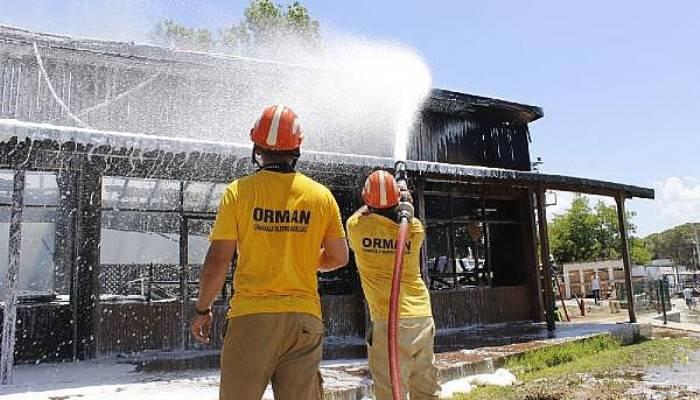 Orman Eğitim Merkezi'nde çıkan yangın söndürüldü