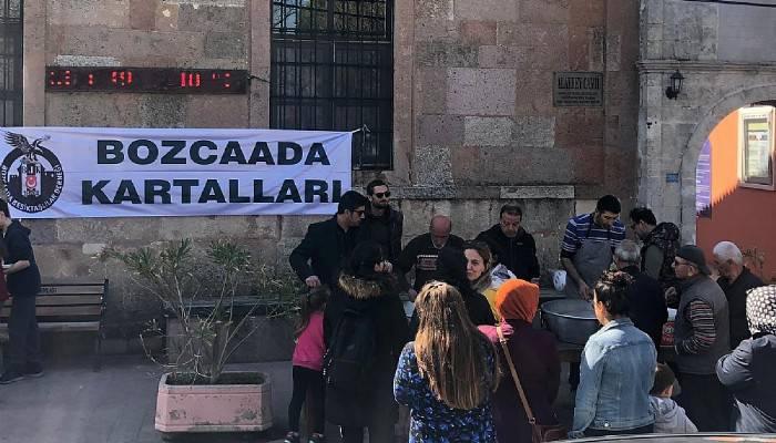 Bozcaada Beşiktaşlılar Derneği, İdlib şehitleri için mevlit okuttu