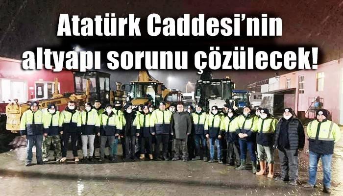 Atatürk Caddesi'nin altyapı sorunu çözülecek!