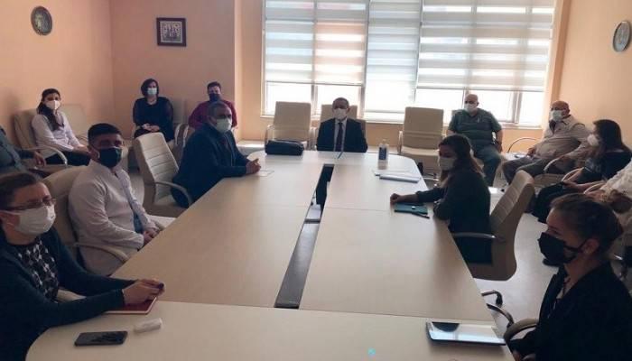 Devlet Hastanesinde koronavirüs değerlendirme toplantısı