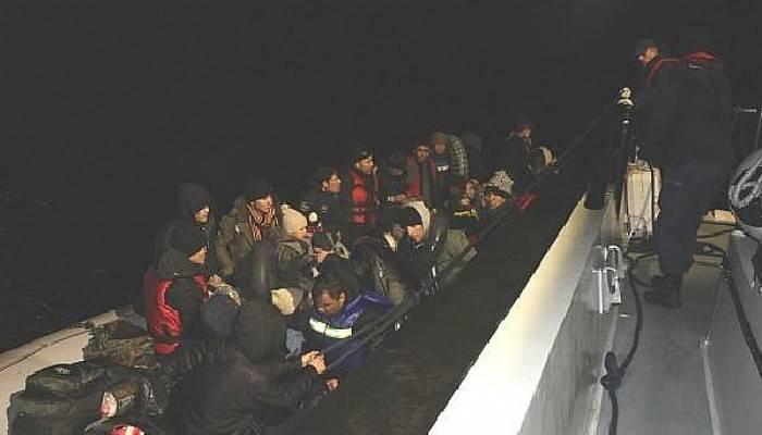 Ayvacık Açıklarında 44 kaçak göçmen yakalandı