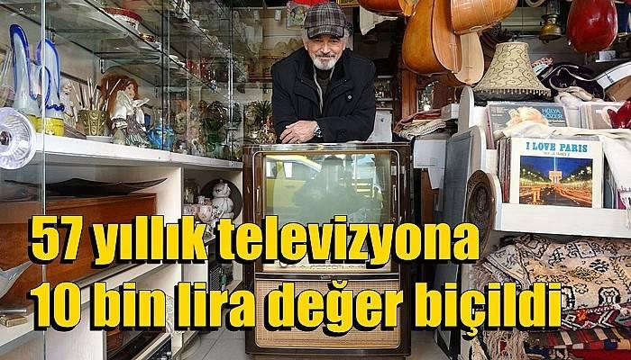 57 yıllık televizyona 10 bin lira değer biçildi (VİDEO)