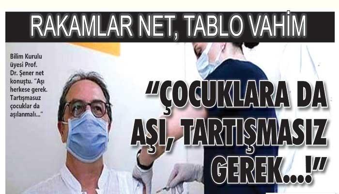 """""""ÇOCUKLARA DA AŞI TARTIŞMASIZ GEREK"""""""