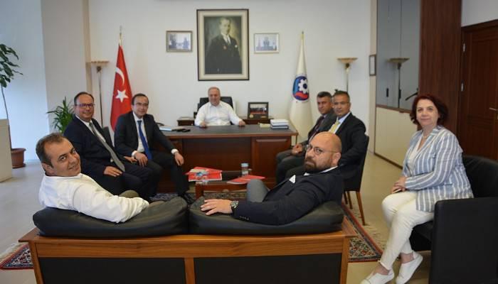 Ziraat Bankası yetkililerinden ÇTSO'ya ziyaret