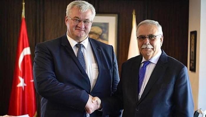Ukrayna Büyükelçisi Sybiha'dan Başkan Gökhan'a ziyaret