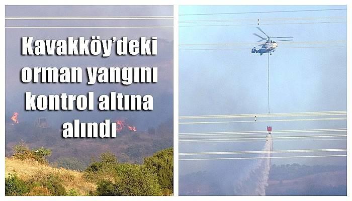Kavakköy'deki orman yangını kontrol altına alındı (VİDEO)