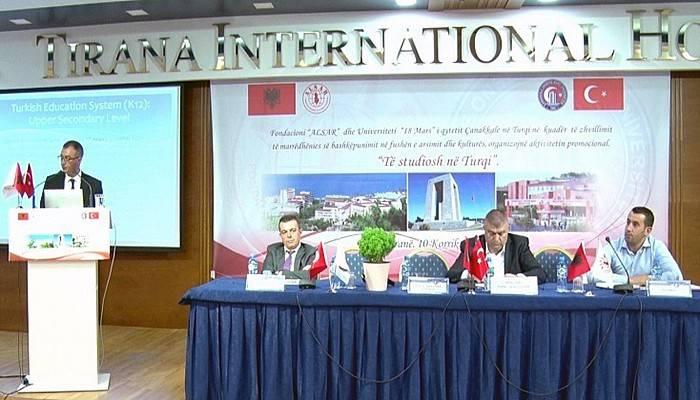 ÇOMÜ ve Türk Eğitim Sistemi Tiran'da Tanıtıldı